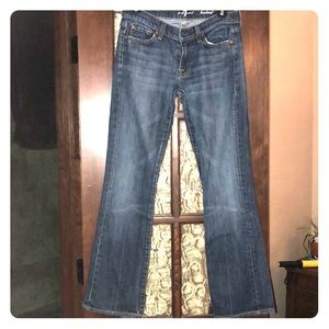 7 for all mankind, boot cut jeans